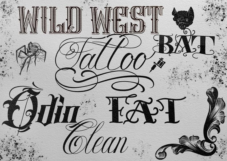Download Big Lettering Pack with stuff for Tattoo inspired fonts ...